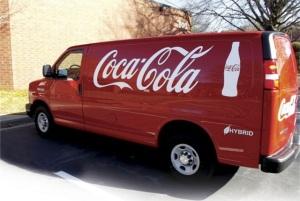 Coca-cola-hybrid-van-varevogne